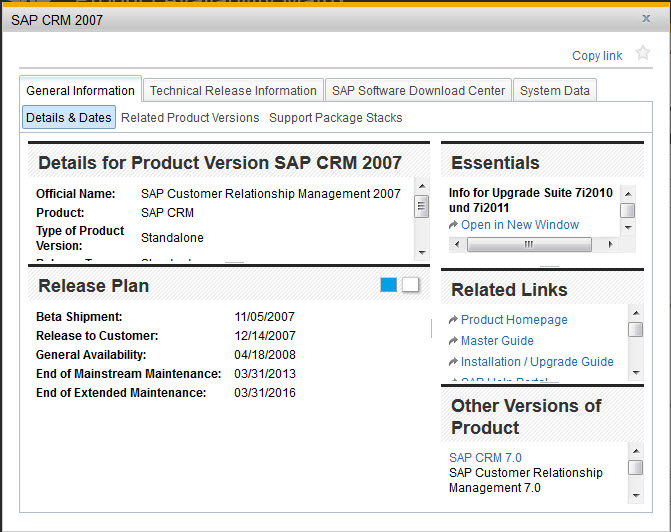 SAP PAM - CRM 2007